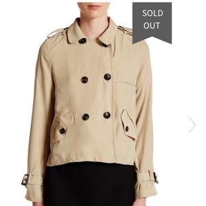 NWT Harlowe & graham lightweight jacket trench